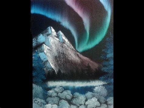 Speed Painting #4: Northern Lights - YouTube