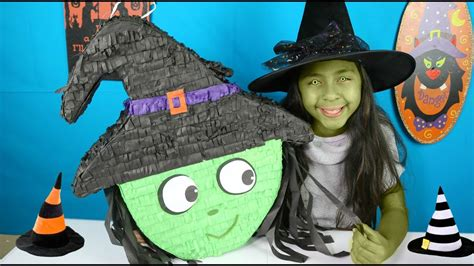 HALLOWEEN WITCH PIÑATA W/ Candy Toys and Surprises